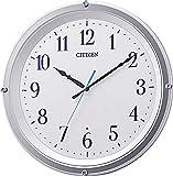 リズム時計工業(Rhythm) 掛け時計 白 Φ31.1x4.8cm シチズン 電波時計 アナログ 連続秒針 インテリア 8MY543-003