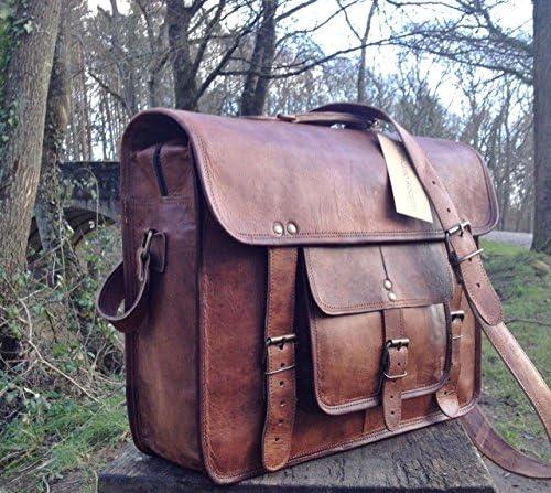 15 Handcrafted Briefcase Designer Retro Chic Rustic Leather Laptop Satchel Portfolio Shoulder Messenger Bag