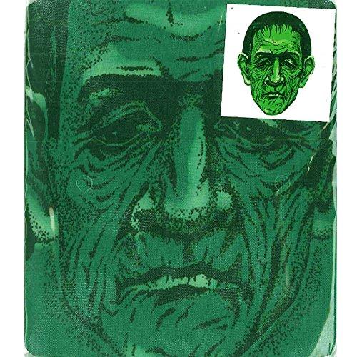 Frankenstein Print Mesh Overhead Full Face Halloween Mask -
