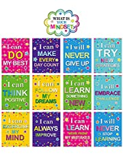 Mindset Posters Bulletin Board Display Set Confetti Home Classroom Positive Sayings Accents What is Your Mindset Photo Props for Kindergarten Pre-School Primary High School Classroom Decorations
