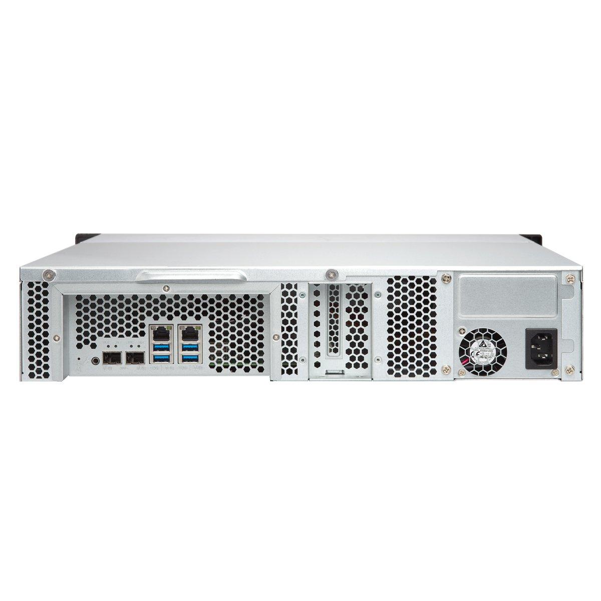 Qnap TS-1231XU-4G-US 12-Bay ARM-based 10G NAS, Quad Core 1.7GHz, 4GB DDR3 RAM, 2 x 10GbE SFP+, 2 x GbE, Single Power Supply by QNAP (Image #4)