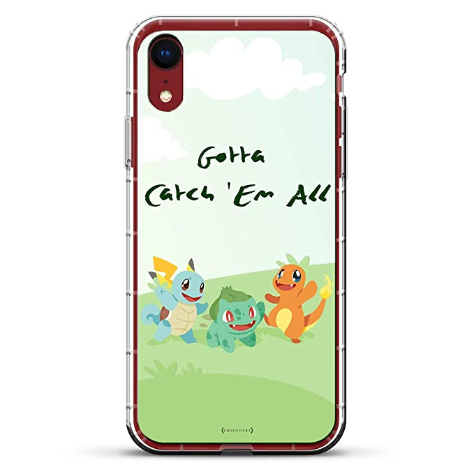 Pokemon Go Catch Em All | Luxendary Air Series Clear Silicone Case with 3D printed