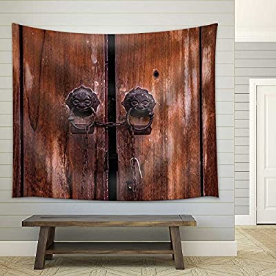 Vintage Old Chinese Door Fabric Wall, Made With Top Quality, Incredible Expert Craftsmanship