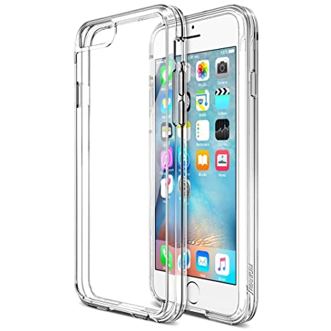 iVoler Funda Carcasa Gel Transparente para iPhone 6S Plus/iPhone 6 Plus 5.5 Pulgadas, Ultra Fina 0,33mm, Silicona TPU de Alta Resistencia y ...