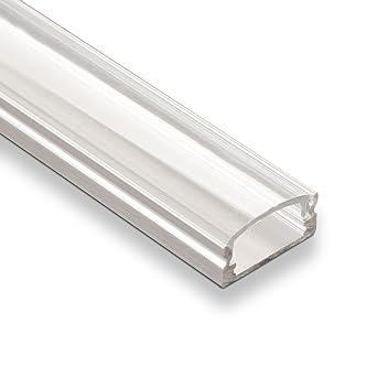 5 x SO-Tech LED Profil-55 Eckprofil 2m mit klarer Abdeckung für LED Streifen