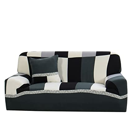 Amazoncom Uxcell Stretch Sofa Cover Couch Cover 2 Seater Polyester