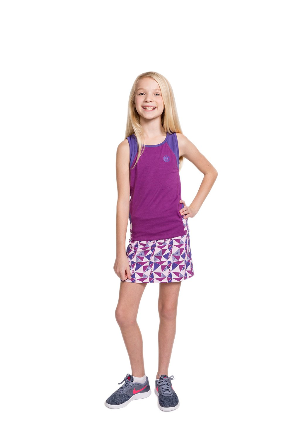 Street Tennis Club Girls Tennis & Golf Tank and Skirt Set with Built in Shorts Sparkaling Grape/Purple Size S