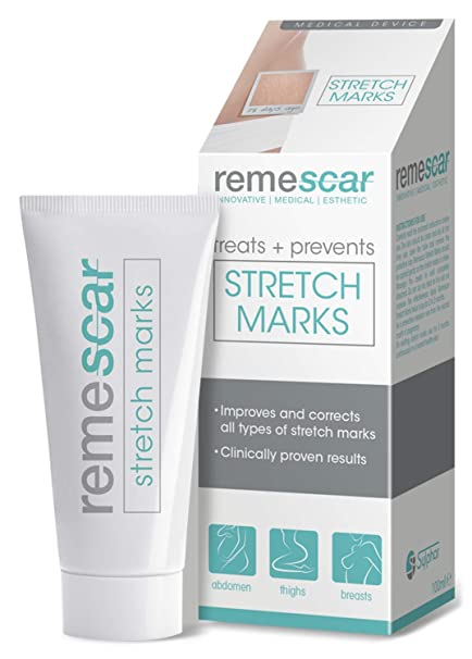 Remescar - Tratamiento de las estrías - Crema para las estrías - Prevención y reducción de las estrías clínicamente probada, para los muslos, las ...