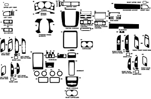 Rvinyl Rdash Dash Kit Decal Trim for Chevrolet Silverado 2007-2014 (LTZ) - Carbon Fiber 4D (Black)
