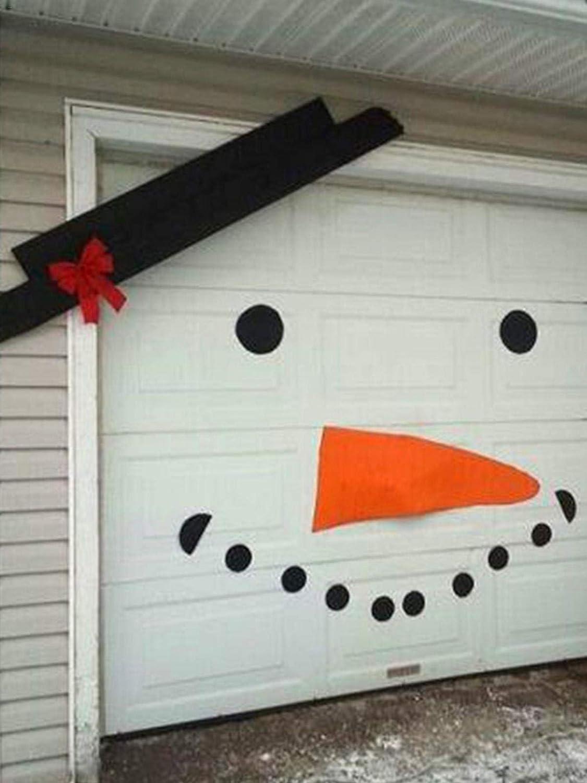 Foxlove DIY Schneemann Weihnachtsaufkleber Garagentor Ornament Aufkleber Sticker Weihnachtsschneemann Aufkleber F/ür Drau/ßen Weihnachten Dekorationen 16PCS