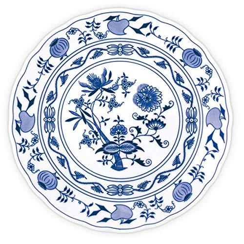 - Blue Onion Traditional Czech Porcelain Decor Plate  European Handmade Quality Design    (Diameter 9.5