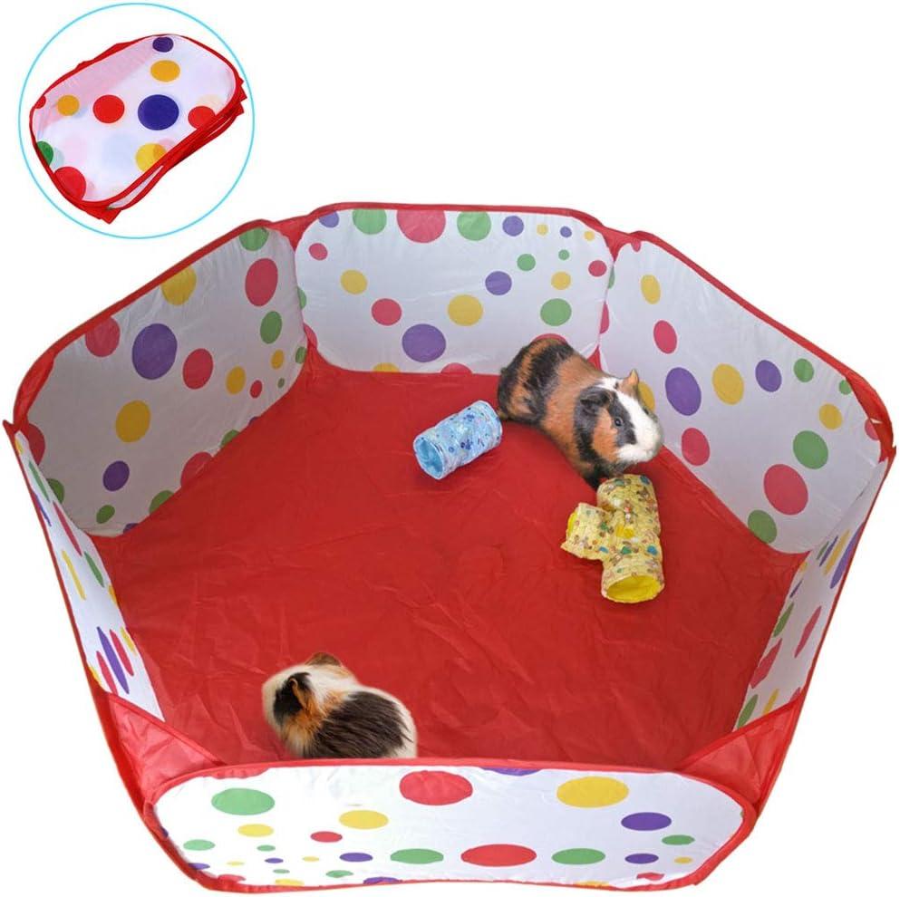 Oncpcare Pet Parque de Juegos para Animales pequeños, pequeños Animales Valla de cobaya, Jaula de Conejo, Parque de Viaje, área de Juegos para Interior y Exterior para Chinchilla, Conejo, ratsss