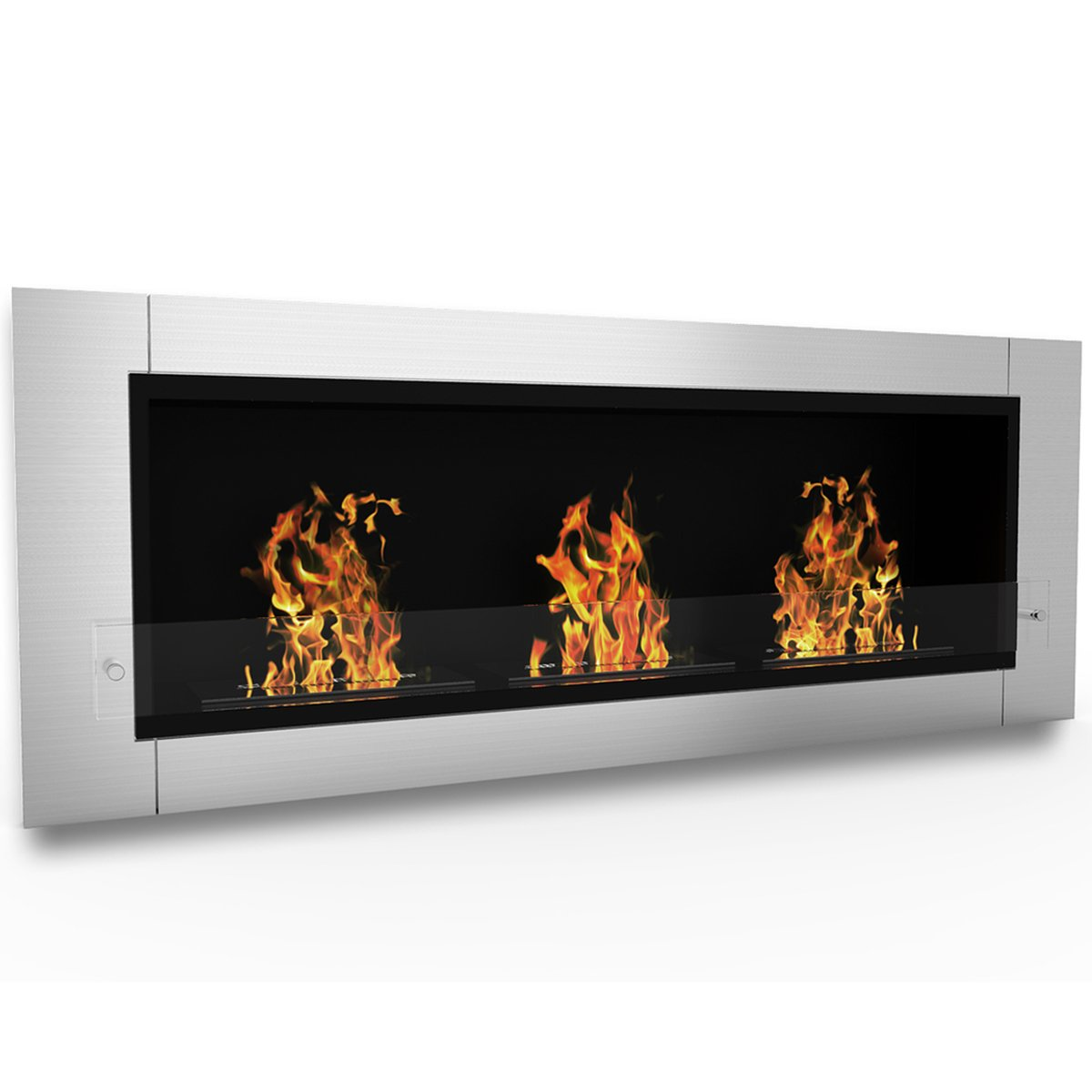 Elite Flame Lenox Ventless Bio Ethanol Recessed or Wall Mounted Fireplace