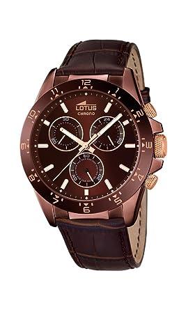 4ba2f8f0fe9c Lotus Hombre Reloj de Pulsera analógico Cuarzo Piel 18158 6  LOTUS   Amazon.es  Relojes