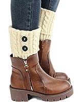 Clearance! E-Papaya 2016 Women's Buttons Leg Warmer Knit Boot Socks Topper Cuff