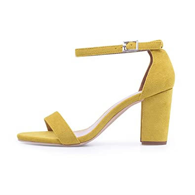 Sky-Pegasus 2018 Ankle Strap Heels Women Summer Shoes Open Toe Chunky High Heels Party