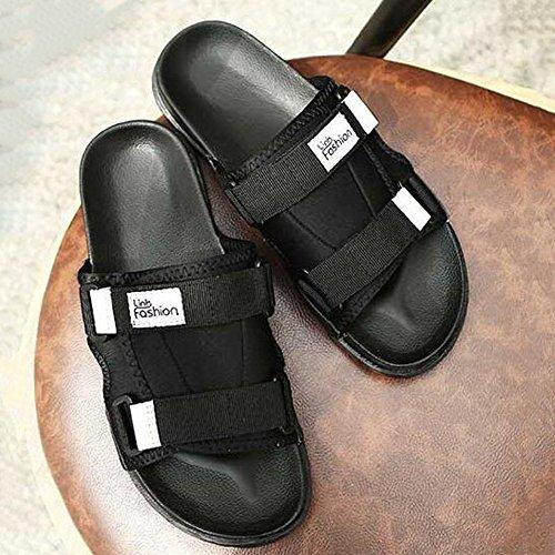XIAOLIN Zapatillas de verano de los hombres zapatillas coreanas zapatillas de verano deslizamiento zapatillas de marea de ocio mareas refrescantes (tamaño opcional) ( Color : 01 , Tamaño : EU42/UK8.5/ 01