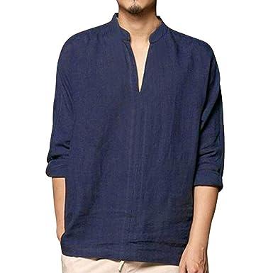 Camisetas Hombre Manga Larga Camisas De Hombre Manga Larga AIMEE7 Camisetas De Hombres Sueltos Camisetas Hombre Manga Larga Algodon Camisetas Casual Hombre ...