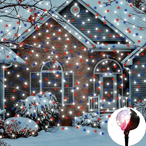 120 Multi Function Led Christmas Lights Blue And White