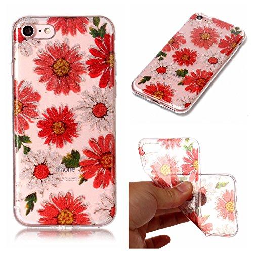"Hülle iPhone 7 / iPhone 8 , LH Gänseblümchen TPU Weich Muschel Tasche Schutzhülle Silikon Handyhülle Schale Cover Case Gehäuse für Apple iPhone 7 / iPhone 8 4.7"""