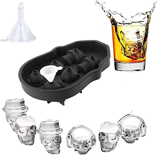 Grenade Ice Mold 3D Cube Silicone For Alcohol Coctails Wodka Weskey Kitchen Gift
