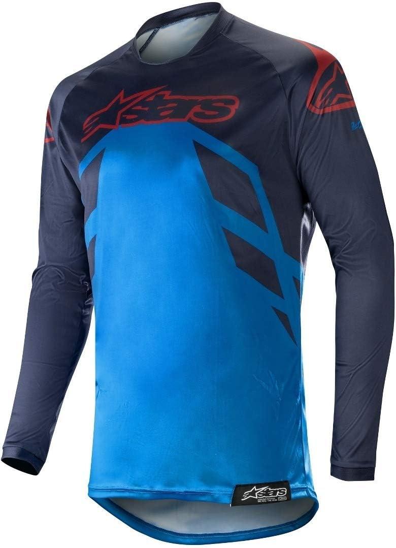 Alpinestars 2019/pour Homme Racer Tech Boussole MX Jersey Bleu Marine//Bleu Moyen//Bordeaux