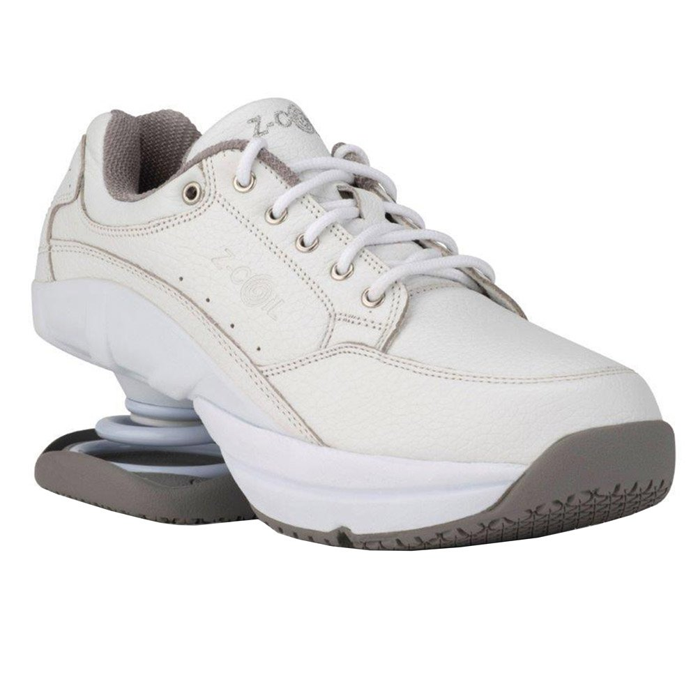 Z-CoiL Women's Legend Slip Resistant White Leather Tennis Shoe 8 C/D US