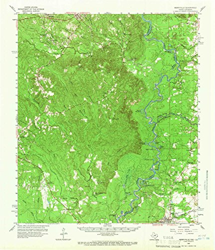 (YellowMaps Merryville LA topo map, 1:62500 Scale, 15 X 15 Minute, Historical, 1959, Updated 1966, 20.9 x 18 in -)