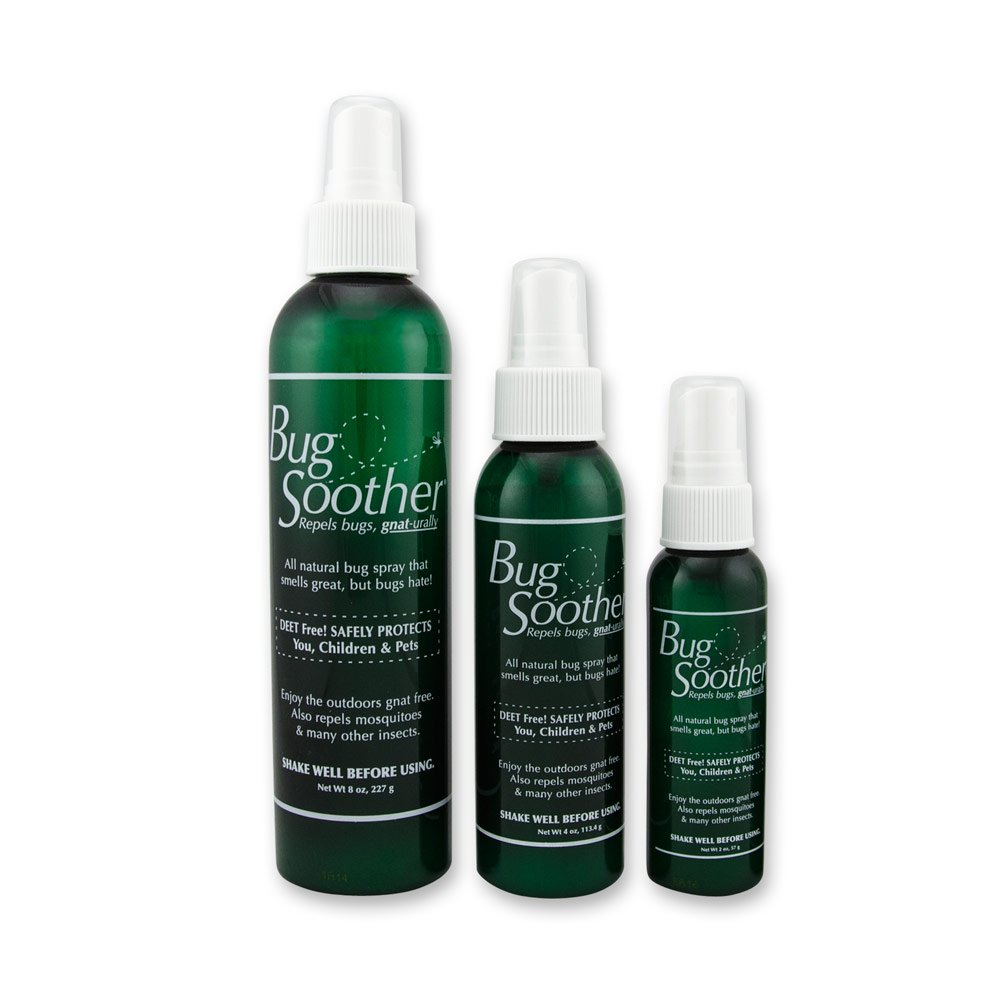 BUG SOOTHER Spray Family Pack - Natural Mosquito, Gnat and Insect Deterrent & Repellent with Essential Oils - Safe for Adults, Kids, Babies, Pets, Environment - Made in USA
