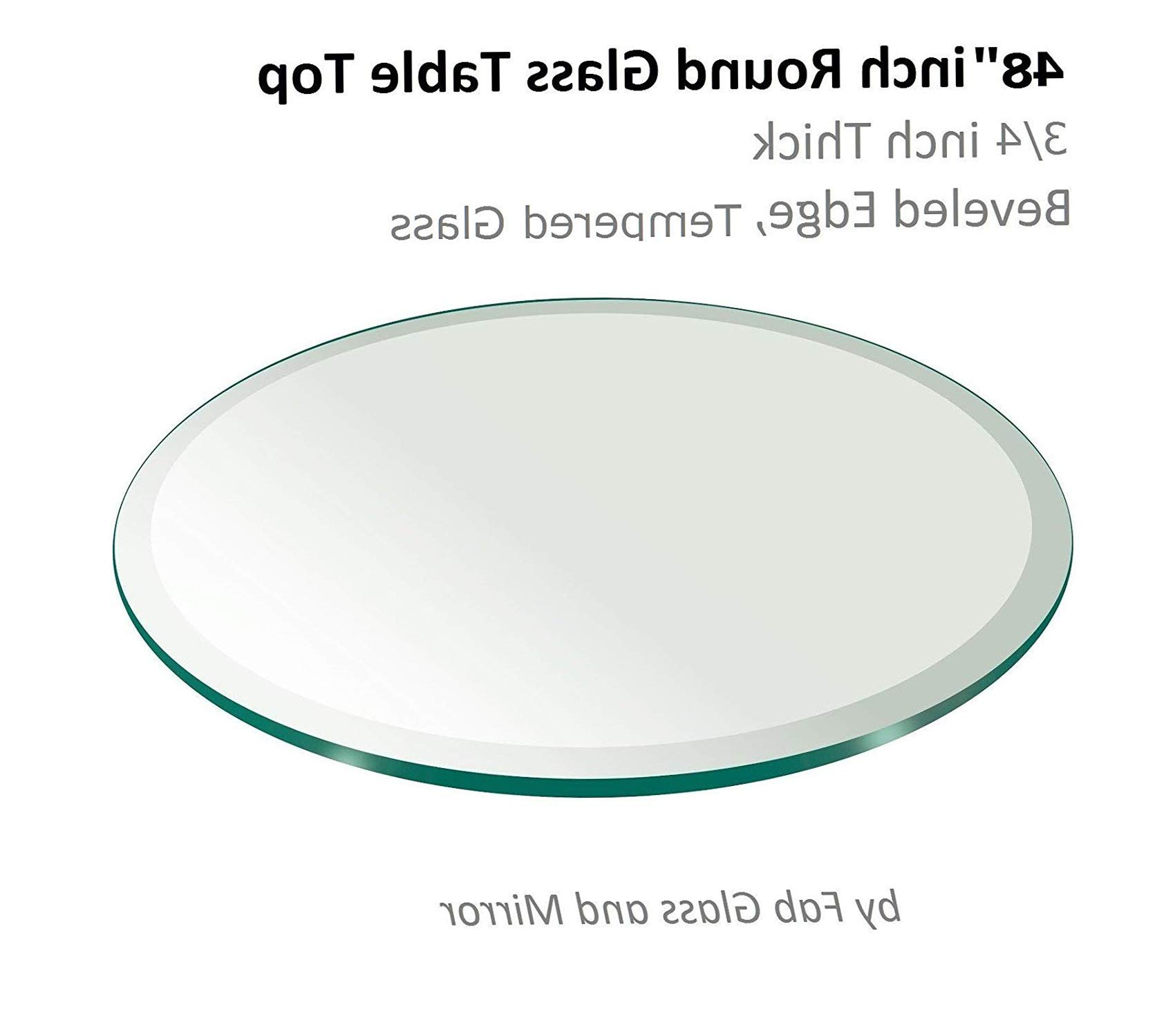 Fаb Glаss Аnd Mirrоr Patio Outdoor Garden Premium 48'' Inch Round Glass Table Top 3/4'' Thick Tempered Beveled Edge by