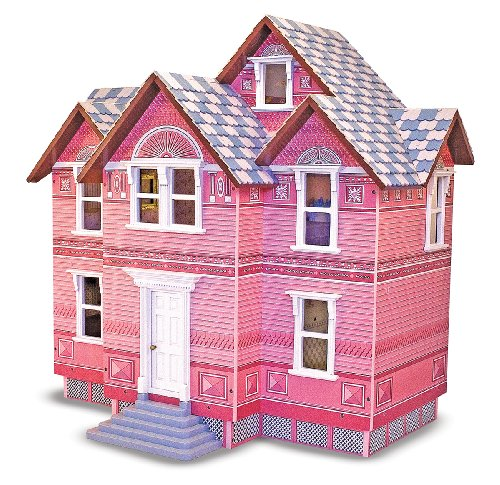 Victorian Dollhouse with 6 Rooms  & Family Dolls by Melissa and Doug by Melissa & Doug
