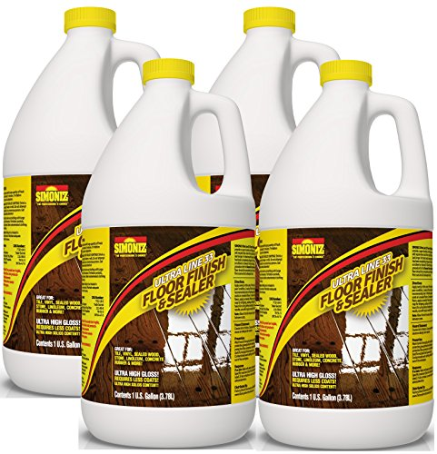 Ultra HIGH Gloss 33% Solids Floor Finish Wax - 4 Gallon Case (More Durable, Less Coats, Less Labor)