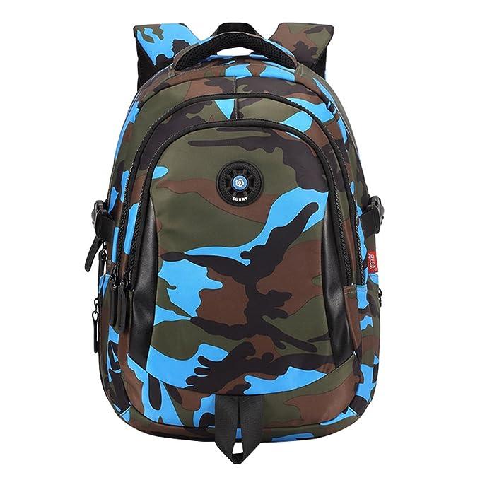 051e5399ed10 Garçons Imperméable Sac à Dos Enfant Camouflage Sac d école GudeHome   Amazon.fr  Bébés   Puériculture