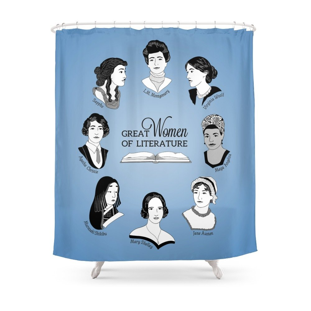 Amazon Society6 Great Women Of Literature Shower Curtain 71 By 74 Geeksweetie Home Kitchen