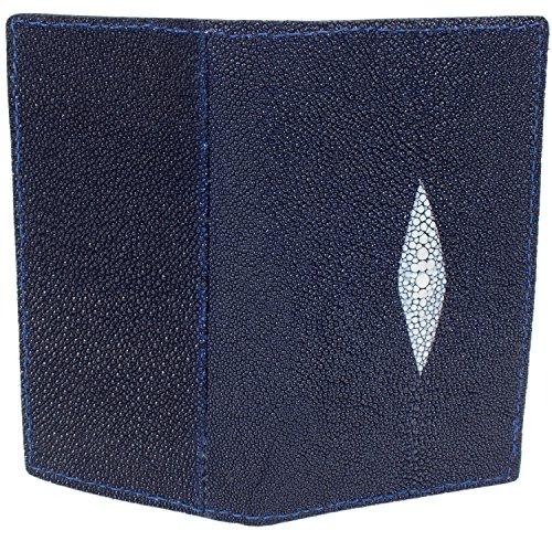 Genuine Genuine Wallet Rodeo Navy Stingray Stingray Checkbook Skin Leather RRq05x