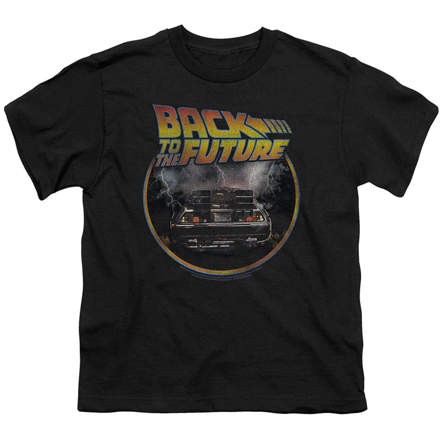 Back To The Future - Youth Back T-Shirt, Medium, Black