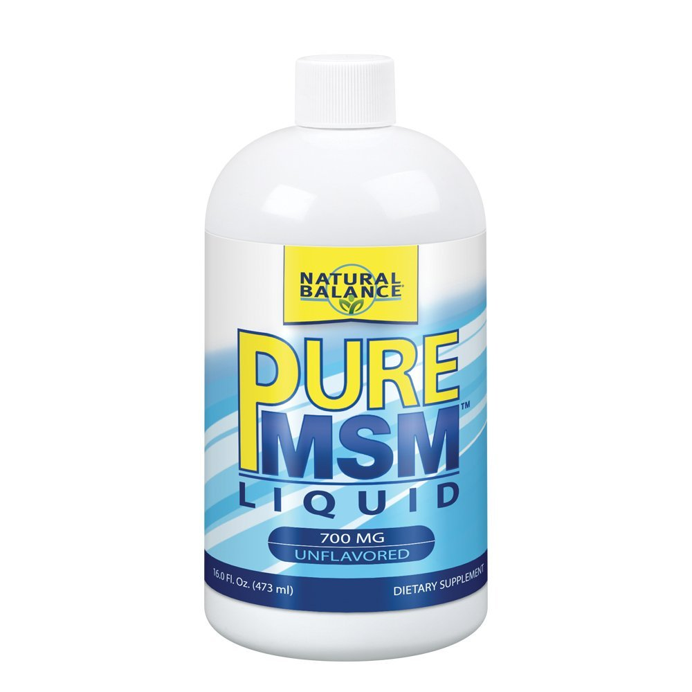 Natural Balance 700 mg Pure MSM Nutritional Supplement, 16 Ounce