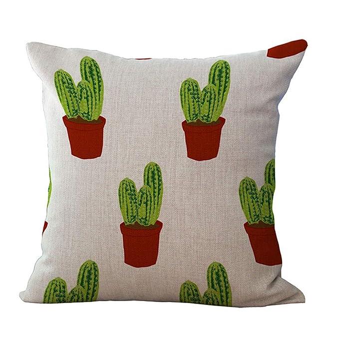 Amazon.com: DAWEIF - Funda de cojín con estampado de cactus ...