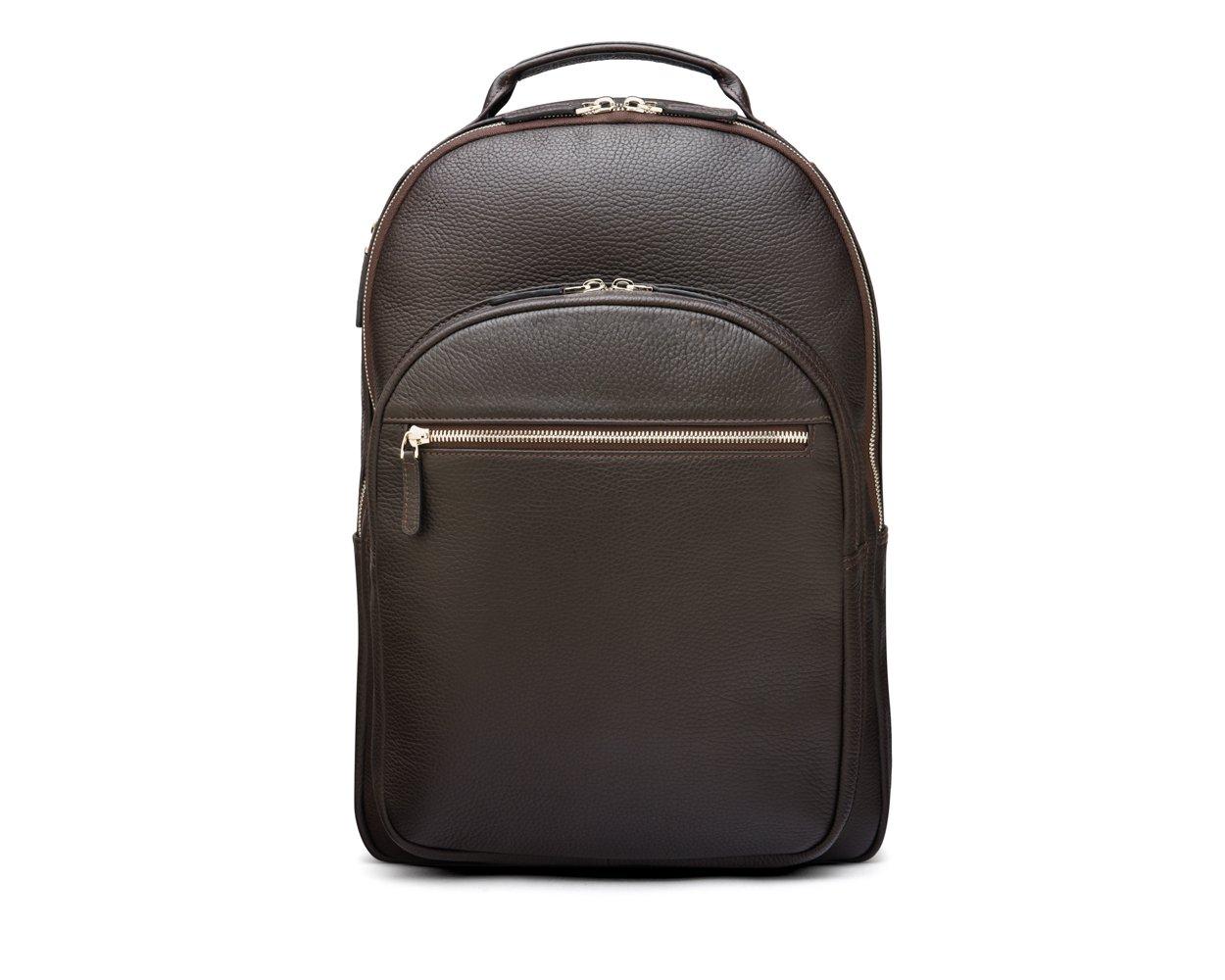 SAGEBROWN Brown Full Grain Cambridge Backpack