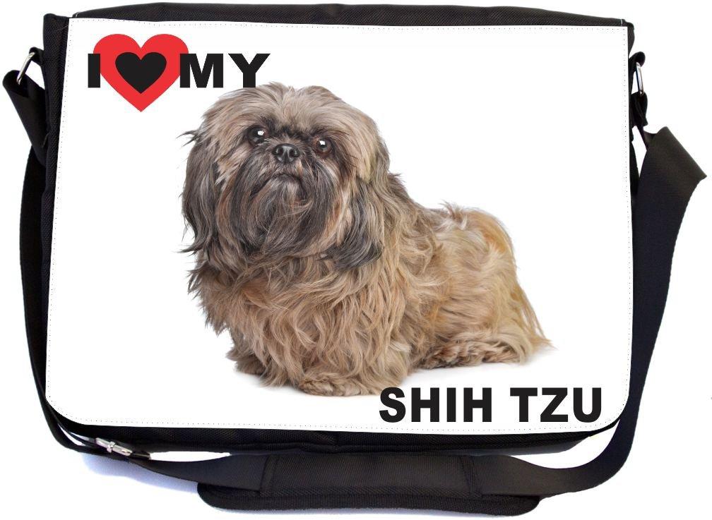 Rikki Knight I Love My Brown Shih Tzu Dog Design, Messenger School Bag (mbcp-cond44994)