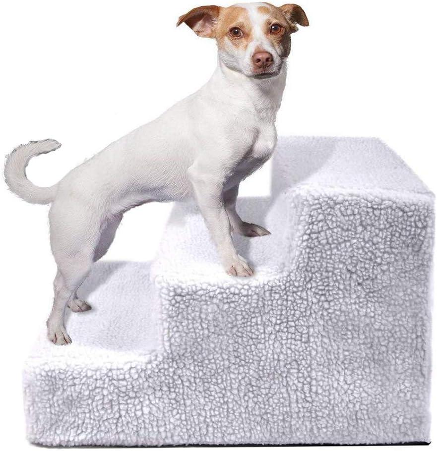 FXQIN Durable Mascota Escalera Plegable Perro Gato Animal Paso Pendiente Diseño de 3 Pasos y Cubierta Desmontable para Peso Ligero y Lavable: Amazon.es: Hogar