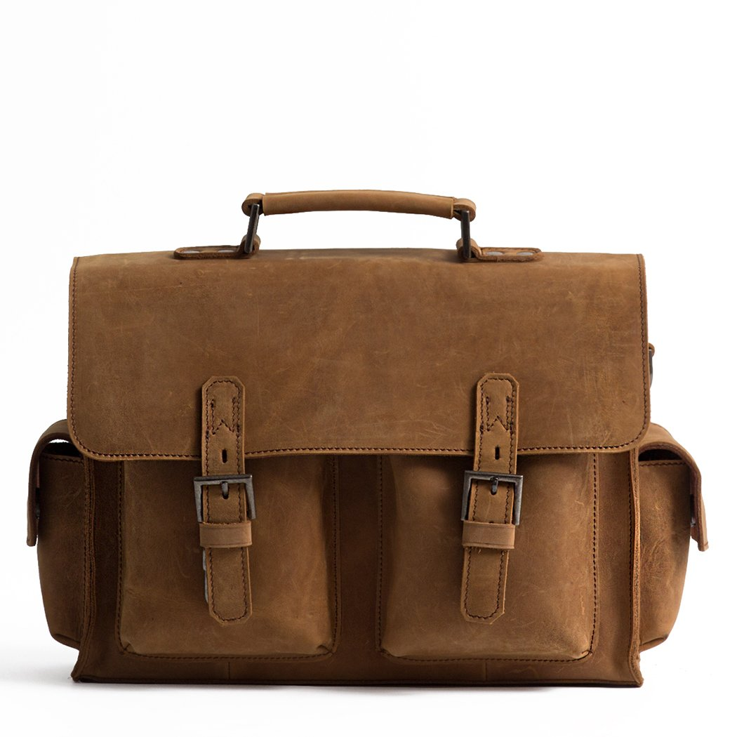 Bagspace Mens Nubuck Leather Messenger Bag BM59-04 13Iches Durable and simple Bag