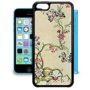 Bumper Phone Case For Apple iPhone 5C - Vintage Florals Snap-On Cover