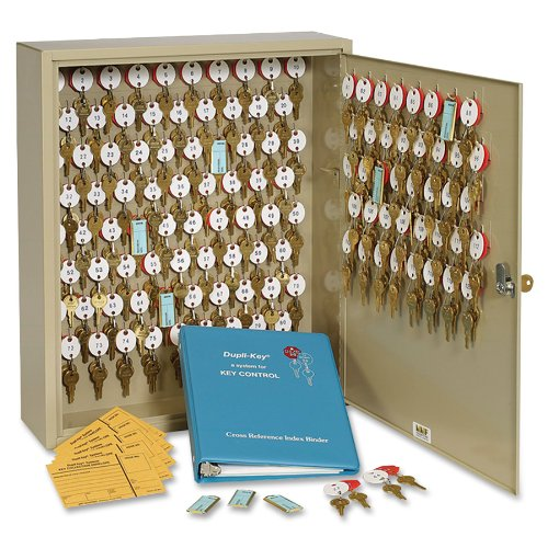 STEELMASTER Dupli-Key Two-Tag Cabinet for 120 Keys, 16.5 x 20.5 x 5 Inches, Sand (201812003) ()