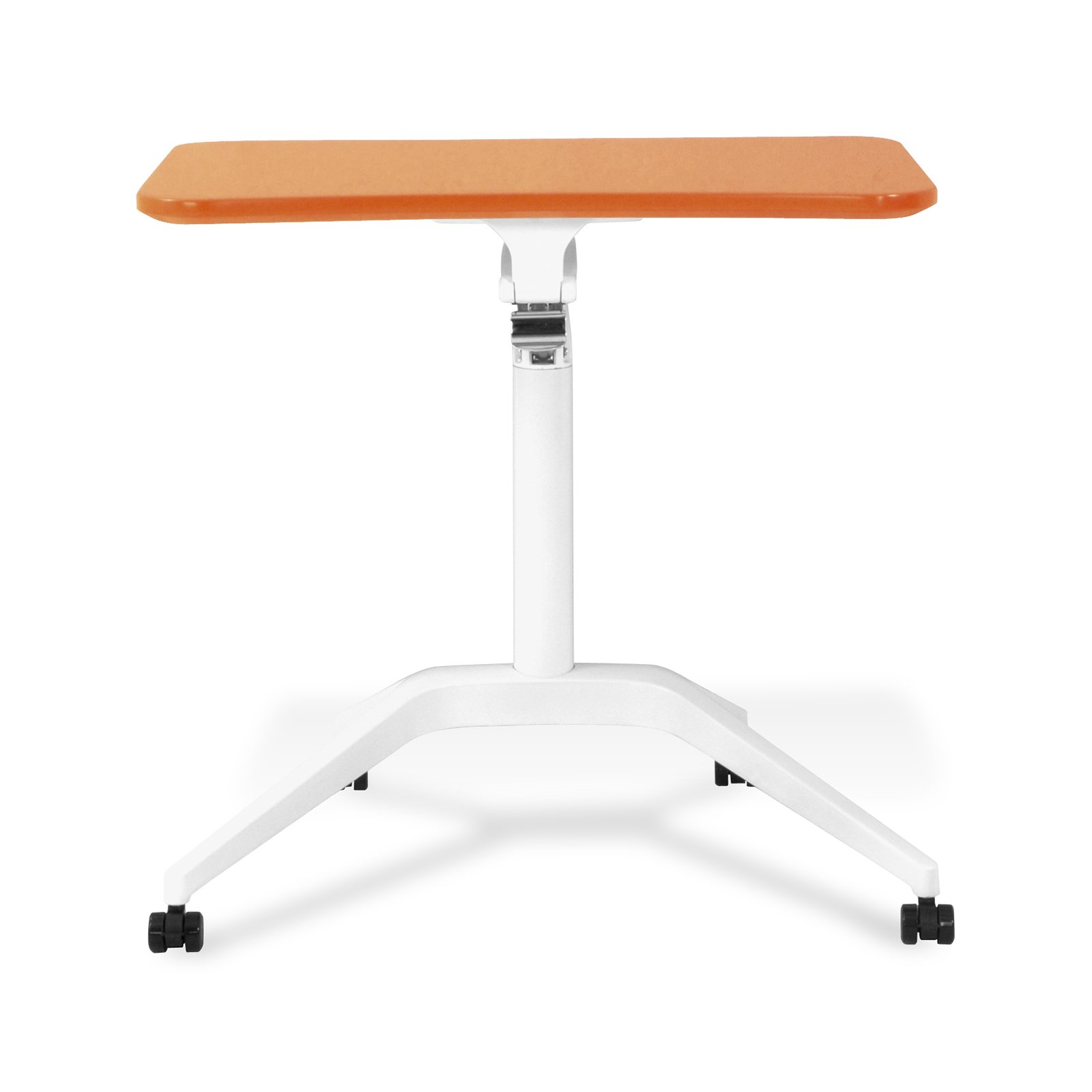 Unique Furniture 201-ORA Workpad Height Adjustable Laptop Cart Mobile Desk, with Orange Top by Unique Furniture