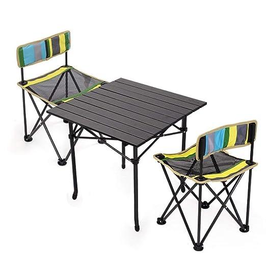 KXBYMX Mesa y Silla de Camping Mesa Plegable y Juego de 2 sillas ...