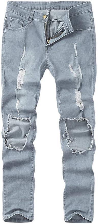Overdose Pantalones Para Hombre Rotos De Moda Pantalones Pitillo Elasticos De Mezclilla Pantalones Vaqueros Desgastados Pantalones Para Hombre Juvenil Amazon Es Ropa Y Accesorios