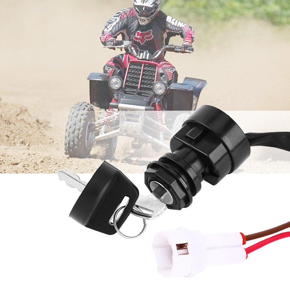 Keenso 2 Pin Motorrad ATV Z/ündschl/üssel f/ür YFM 350 Bruin 660R 700R Raptor 350X Krieger