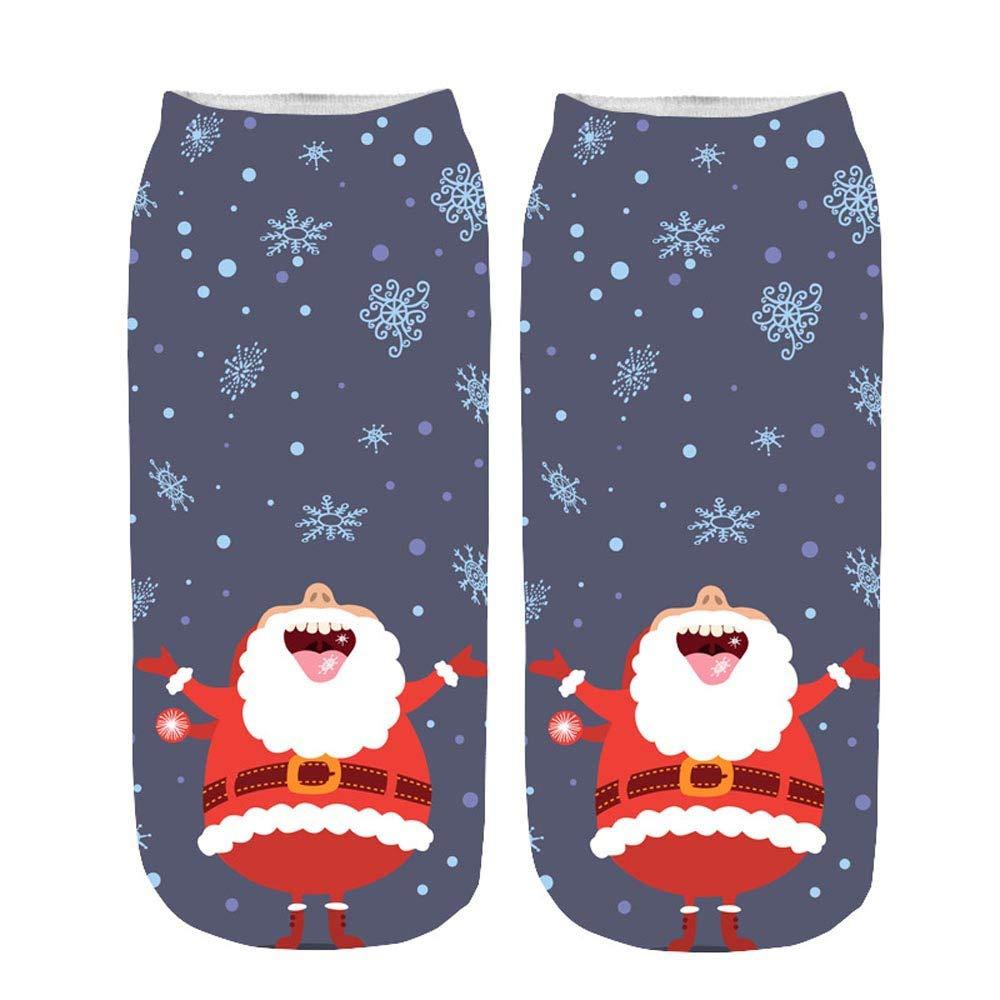 3D Printed Christmas Women Ladies Casual Socks Cute Unisex Low Cut Ankle Socks