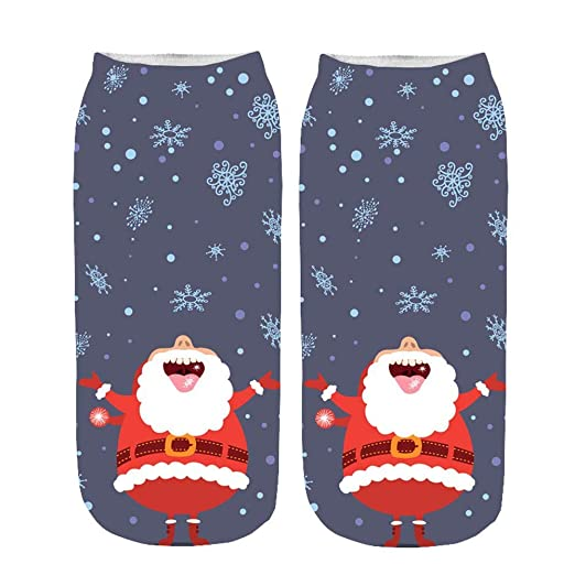 783b365f6fb1 Image Unavailable. Image not available for. Color: 2019 Newest Soft Socks  For Women Fuzzy,Unisex Christmas Funny 3D Printed ...